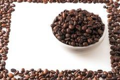 Bild som göras med kaffebönor Arkivfoton