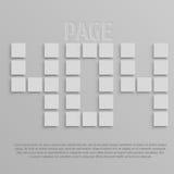 Bild som ska användas på websites som sidan för 404 fel Royaltyfria Bilder