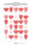 Bild sudoku Puzzlespiel mit Herzen Stockbild
