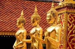 Bild tre av Buddha Arkivfoton