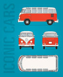 Bild Volkswagen-T1 van vector Stockbild