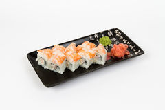 Bild von den geschmackvollen Sushi eingestellt mit Garnele Stockbilder