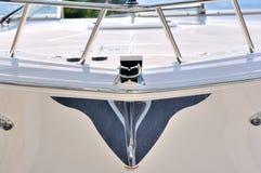 Bild von der Karosserie einer Yacht Stockbild