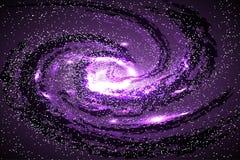 Bild von Galaxien, von Nebelflecken, von Kosmos und von Effekttunnelspirale Gallone stock abbildung