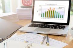Bild von Geschäftsunterlagen Stockfotos