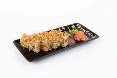 Bild von geschmackvollen Sushi stellte mit Garnele und Zwiebel ein Stockbilder