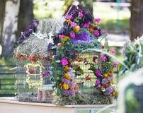 Bild von hellem verziert mit Blumenvogel Lizenzfreies Stockfoto