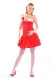 Bild von reizendem blondem Stockfotos