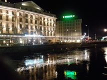 Bild von rolex in der Nacht stockfotografie