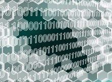 Bild von transparenten Hexagonen ummauern defektes bis zum der digitalen Ära lizenzfreie abbildung