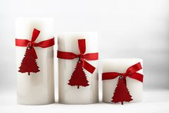 Bild von Weihnachtskerzen stockfoto