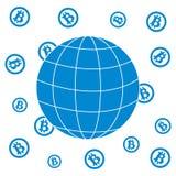 Bild, welches die Möglichkeit der Anwendung von bitcoin als Mittel des Lohns zeigt Stockfotos