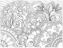 Bild in zentangle Art Stockfoto