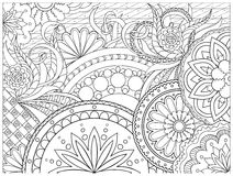 Bild in zentangle Art Lizenzfreies Stockfoto