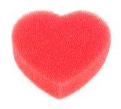bilda den hjärta isolerade duschsvampen Royaltyfri Bild