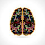 Bilda för hjärna av färgrika pilar Royaltyfri Bild