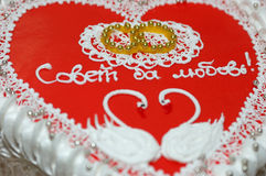 bilda hjärtapiebröllop royaltyfria foton