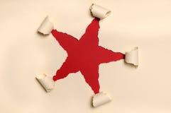 bilda papper riven sönder stjärnayellow arkivfoton