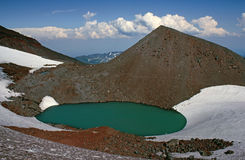 Is- bildad lake royaltyfri bild