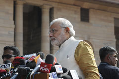 Bildande av Indiens regeringen 2014 Royaltyfria Bilder
