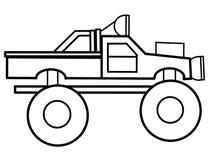 Bildande färgläggningsidor för gigantisk lastbil Fotografering för Bildbyråer