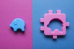 Bildande framkallande leksakram för ungar på färgrik bakgrund Top beskådar Lekmanna- lägenhet Kopiera utrymme för text Royaltyfri Foto