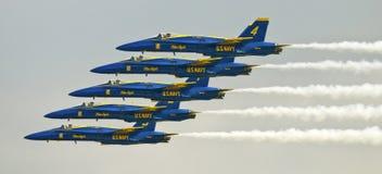 bildande jets supersonic royaltyfria bilder