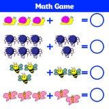 Bildande lek för matematik för barn Lära subtraktionsarbetssedeln för ungar som räknar aktivitet också vektor för coreldrawillust Royaltyfri Foto