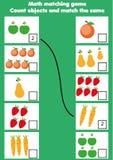 Bildande lek för matematik för barn Matcha matematikaktivitet räkna modiga ungar vektor illustrationer
