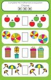 Bildande lek för matematik för barn Royaltyfri Foto