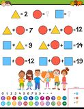 Bildande lek för matematikberäkning för barn vektor illustrationer