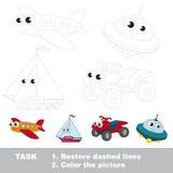 Bildande lek för vektorspår för förskole- ungar vektor illustrationer