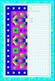 Bildande sida för barn på ett fyrkantigt papper Behöv färga den andra delen av matta som betraktar symmetri Royaltyfria Bilder