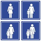 Bilddagramm; Familie - einzelne Mamma Stockfotos