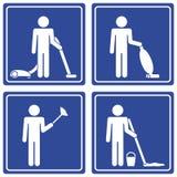 Bilddagramm - Reinigung, Mann Lizenzfreies Stockfoto
