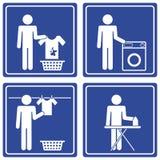 Bilddagramm - Wäscherei, Mann Lizenzfreie Stockfotos