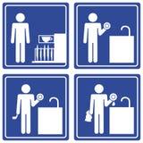 Bilddagramm - waschende Teller, Mann Lizenzfreie Stockbilder
