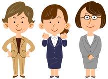 Bilden av arbetekvinnors lag stock illustrationer