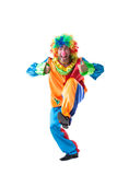 Bilden av den gulliga clownvisningen tummar upp Arkivfoton