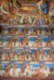 Bilden av frescoesna av den Rila kloster Royaltyfri Fotografi