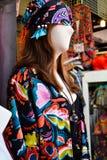 Bilden av härligt snör åt klänningar i lagret Arkivfoto