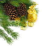 Bilden av julobjekt stänger sig upp Royaltyfri Fotografi