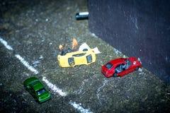 Bilden av kraschade bilar Royaltyfri Foto
