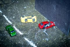 Bilden av kraschade bilar Arkivbilder