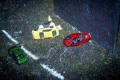Bilden av kraschade bilar Royaltyfria Foton