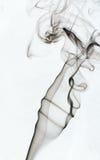 Bilden av rök på vit bakgrund Arkivbilder