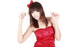 Bilden des jungen Mädchens Stockfoto