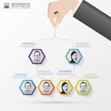 bilden för affären 3d framförde strukturen Organisationsdiagram Infographic design vektor Arkivbild