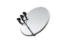 bilden för datoren för antennen 3d frambragda framför maträtten satelliten Royaltyfri Foto