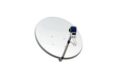 bilden för datoren för antennen 3d frambragda framför maträtten satelliten Arkivbilder